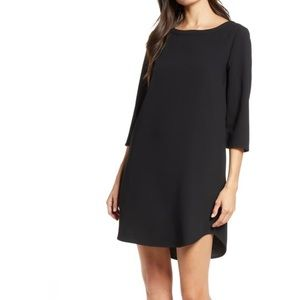 BB Dakota Jazlyn Crepe Shift Dress - black
